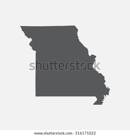 Missouri State Border Map