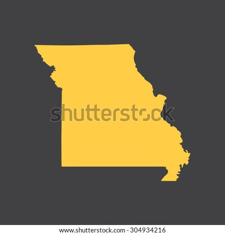 Missouri state border,map. Vector EPS8 - stock vector