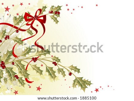 Mistletoe branches - stock vector