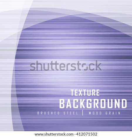 Misty Purple Blue Brushed Metal Wood Grain Texture Background Graphic Design Vector Illustration EPS10  - stock vector