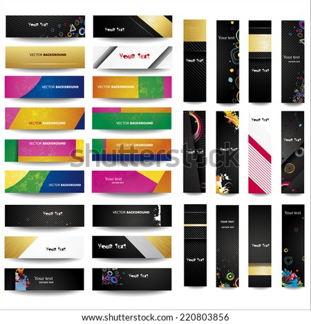 Mix Collection vertical and horizontal banners. Vol 5 - stock vector