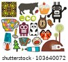 Mix of different vector images and icons. vol.56 - stock photo