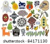 Mix of different vector images and icons. vol.25 - stock vector