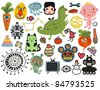 Mix of different vector images and icons. vol.27 - stock photo