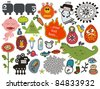 Mix of different vector images and icons. vol.28 - stock vector