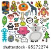 Mix of different vector images and icons. vol.30 - stock vector