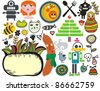 Mix of different vector images and icons. vol.33 - stock photo