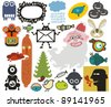 Mix of different vector images and icons. vol.34 - stock vector