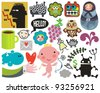 Mix of different vector images and icons. vol.38 - stock vector