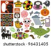 Mix of different vector images and icons. vol.44 - stock vector