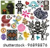 Mix of different vector images and icons. vol.45 - stock vector