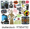 Mix of different vector images and icons. vol.46 - stock photo