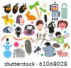 Mix of different vector images. vol.5 - stock vector