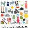 Mix of different vector images. vol.7 - stock vector