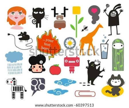 Mix of different vector images. vol.2 - stock vector