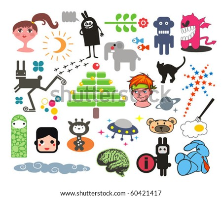 Mix of different vector images. vol.3 - stock vector