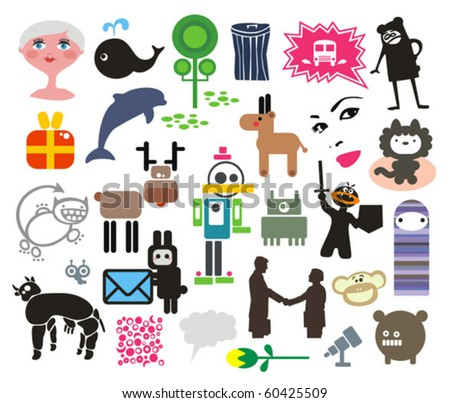 Mix of different vector images. vol.4 - stock vector