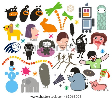 Mix of different vector images. vol.5