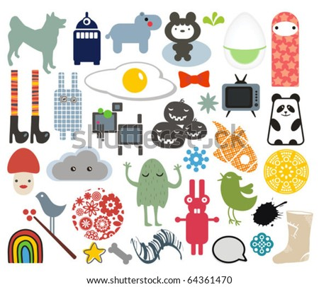 Mix of different vector images. vol.7