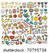 Mix of doodle images in vector. vol. 5 - stock vector
