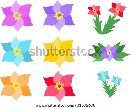 Mix Page of Flowers Vector