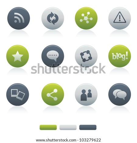 Mixed Circle Social Media Icons Professional vector set of social media for your website, application, or presentation. The graphics can easily be edited colored individually and be scaled to any size - stock vector