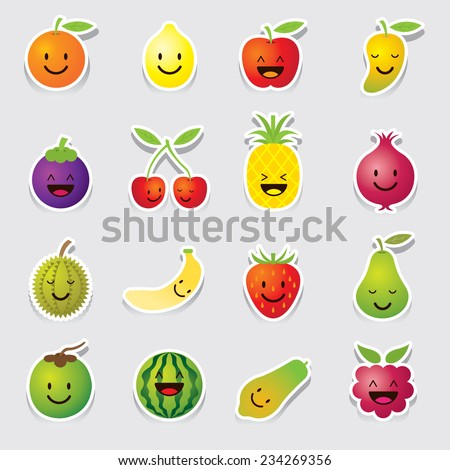 Mixed Fruits Character, Cartoon