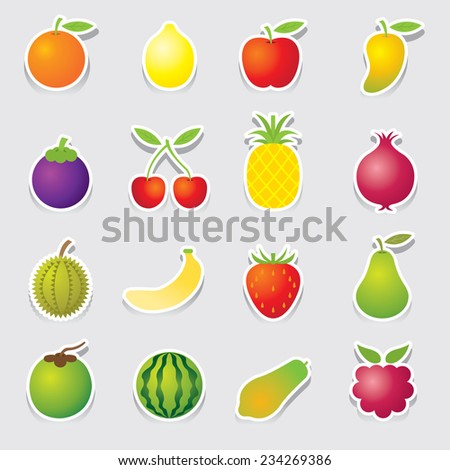 Stock Vector Back To School A Set Of Vector Icons Of Fruit Representing Alphabet A To Z Dictionary For Kids on Vector Fruit Representing Alphabet Z Dictionary 128047013