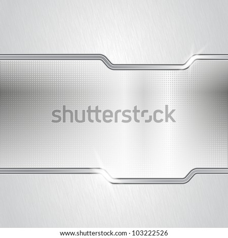 Mixed metal background. Eps10 vector illustration. Used opacity mask for glossy effect at surface and transparency layers for lights - stock vector