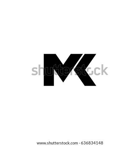 Mk Letter Vector Logo Stock Vector 636834148 Shutterstock