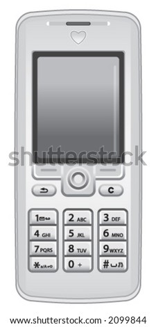 Mobil Cell Phone - stock vector