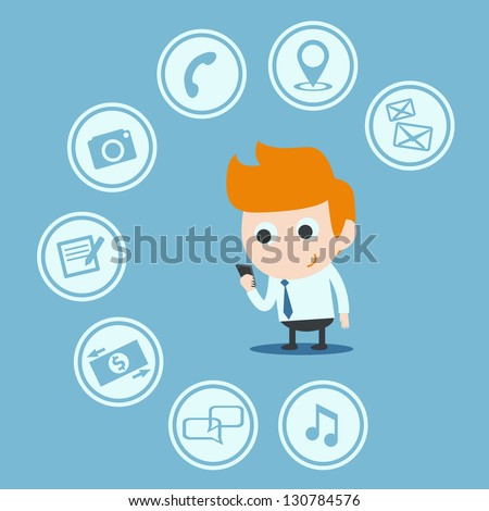 mobile application - stock vector