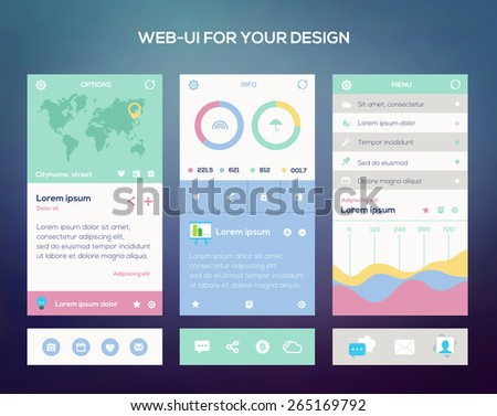 Mobile application interface design  - stock vector