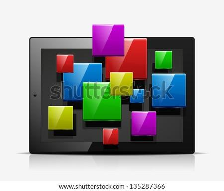 Mobile applications concept icon. Vector - stock vector