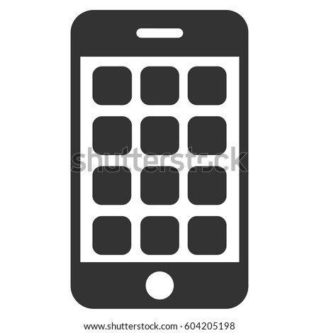 Mobile Apps Vector Icon Flat Gray Stock Vector Royalty Free