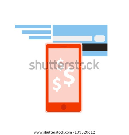 Mobile banking - stock vector