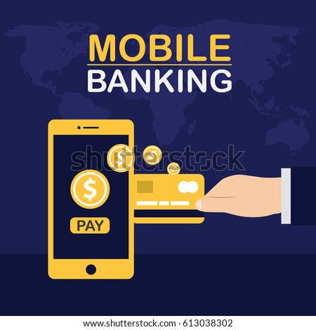 Wire Transfer Us Bank | Mobile Banking Wire Transfers Bank Money Stock Vector 613038302