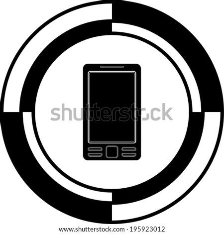 Mobile button mosaic - stock vector