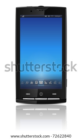 Mobile, cell phone - original design, vector illustration. - stock vector