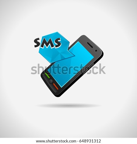 Mobile concept. Sms vector illustration