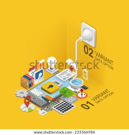 Mobile development icons set. Vector illustration - stock vector