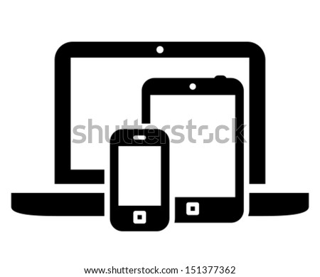 Mobile devices icon - stock vector
