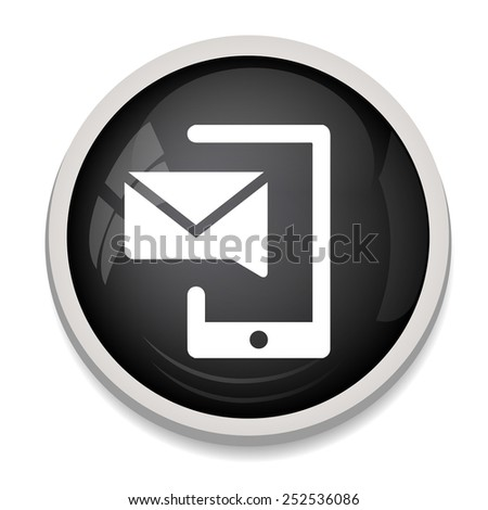 Mobile devices sign icon with message. - stock vector