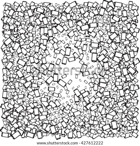 Mobile Devices, Smartphone, vector Pattern Background - stock vector
