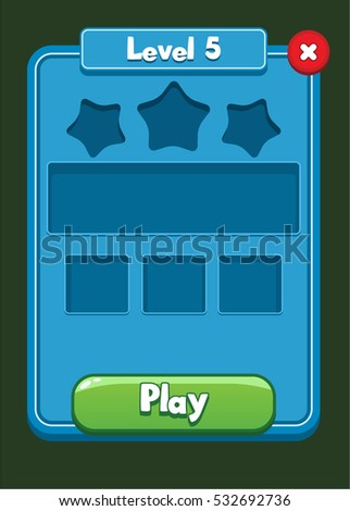 Mobile Game UI Level Completed Screen - Reskin Match 3 Assets