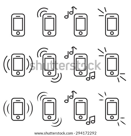 Mobile icons vector set collection