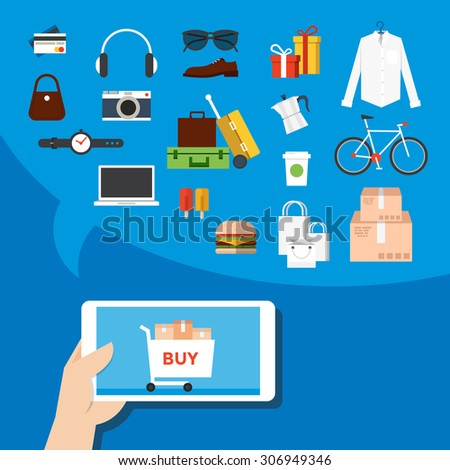 Mobile marketing. - stock vector