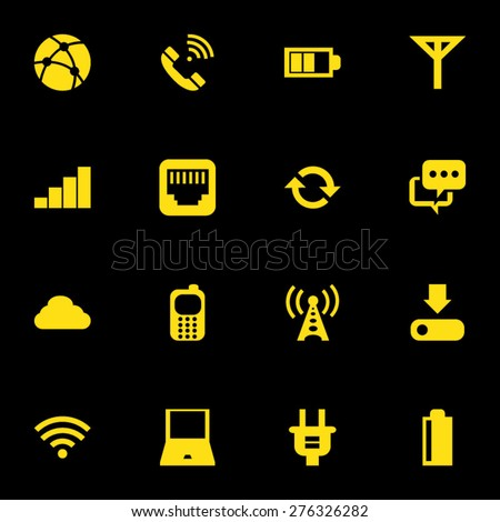 Mobile Network Icon Set - stock vector