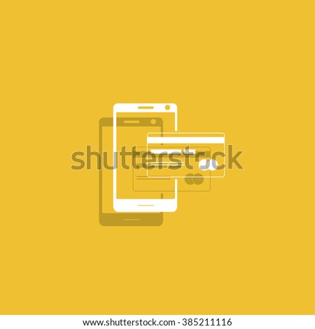 Mobile payment icon. Illustration vector EPS 10 - stock vector