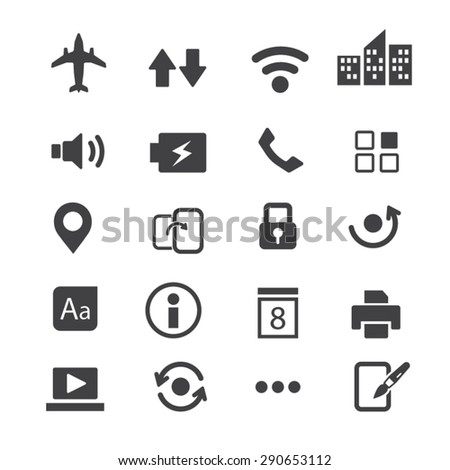 Mobile phone applications icons,Vector - stock vector